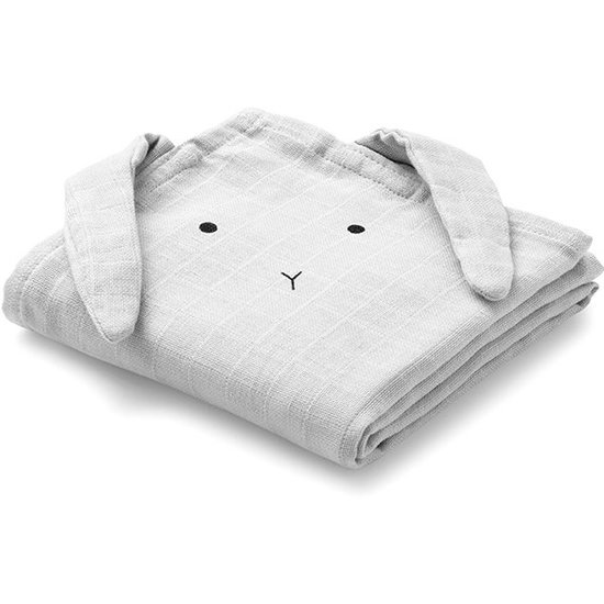 Liewood Hydrofiele doeken Rabbit dumbo grey 2st - Liewood
