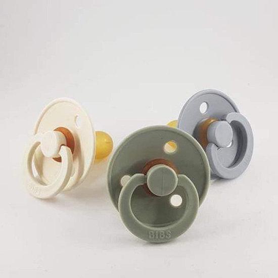 Bibs Pacifiers Ivory - Blush - Bibs - 2-pack