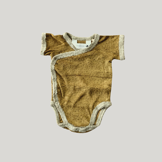 Susukoshi Susukoshi teddy Kimono bodysuit romper Antique Brass