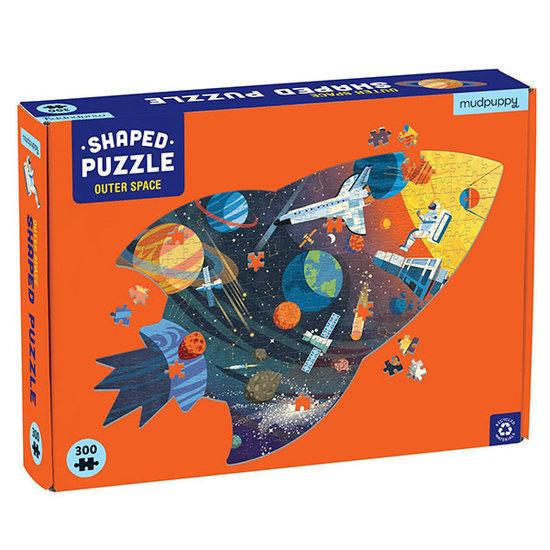 Mudpuppy Mudpuppy silhouet puzzel Outer Space 300 stukjes