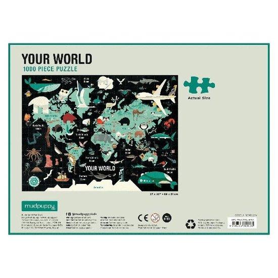 Mudpuppy Mudpuppy puzzel Your world 1000 stukjes