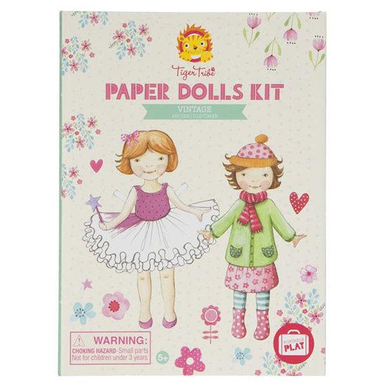 Tiger Tribe Tiger Tribe craft set Paper Dolls kit Vintage
