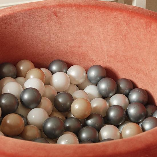 Moje Ball pit velvet rust 90x40 +balls - Moje