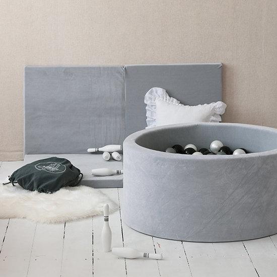 Moje Ballenbad velvet light grey 90x40 +ballen - Moje