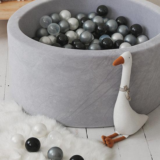 Moje Ball pit velvet light grey 90x40 +balls - Moje