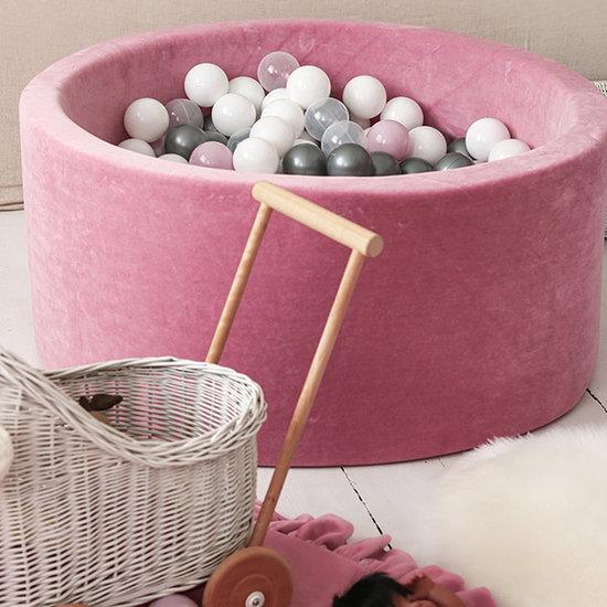 Moje Ball pit velvet raspberry 90x40 +balls - Moje