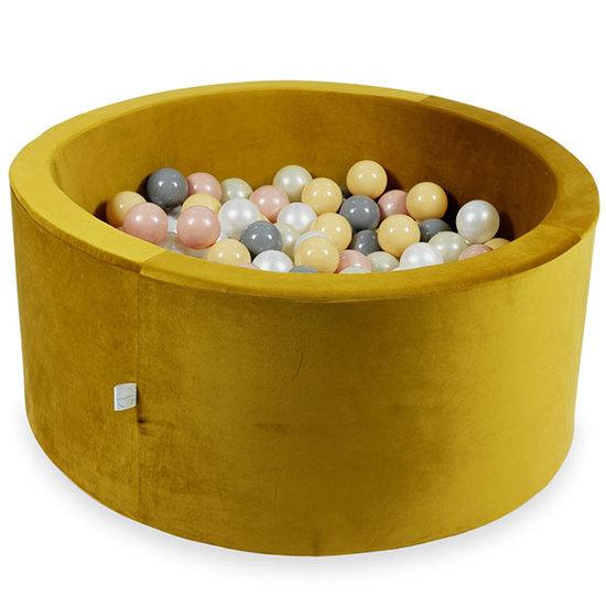 Moje Ballenbad velvet gold 90x40 cm incl. ballen - Moje
