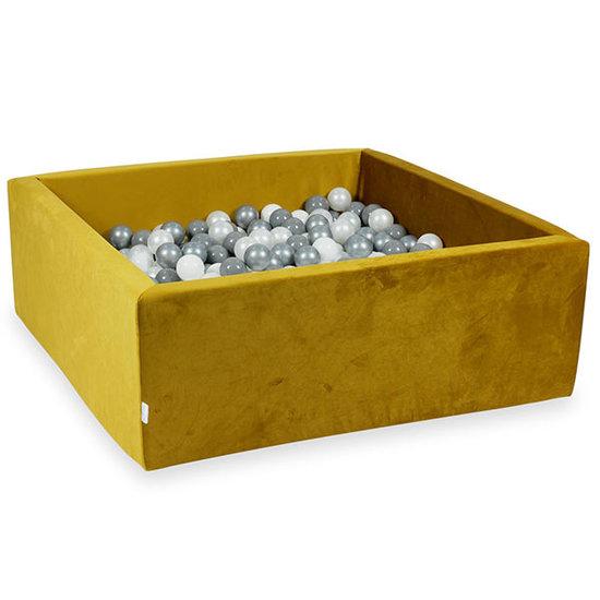 Moje Ballenbad velvet gold 110x110x40 incl. ballen - Moje