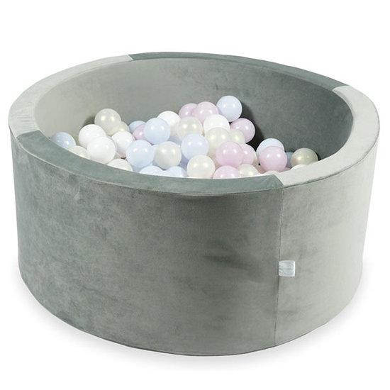Moje Ballenbad velvet grey 90x40 cm incl. ballen - Moje