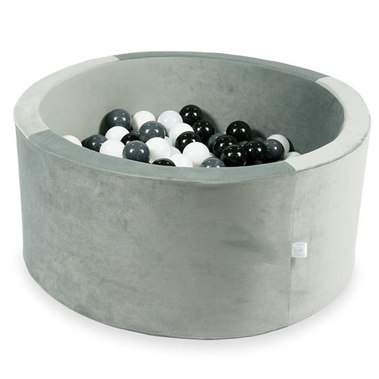 Moje Ball pit velvet grey 90x40cm incl. balls - Moje