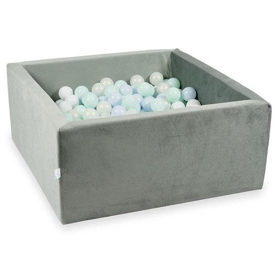 Moje Ballenbad velvet grey 90x90x40 incl. ballen - Moje
