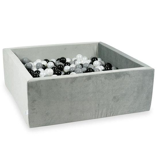Moje Ballenbad velvet grey 110x110x40 incl. ballen - Moje
