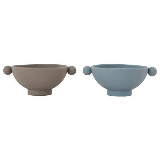 OYOY OYOY Tiny Inka bowl kom Dusty Blue - Clay 2st