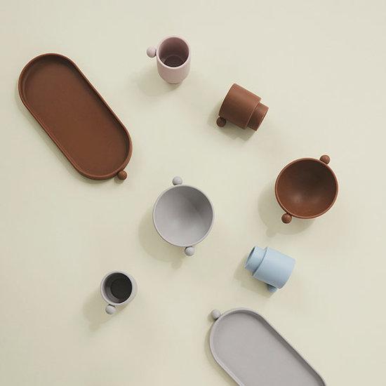OYOY OYOY Tiny Inka Cup beker Dusty Blue - Clay 2st