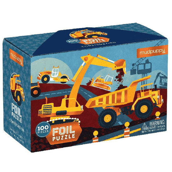 Mudpuppy Mudpuppy folie puzzel bouwplaats 100 stukjes