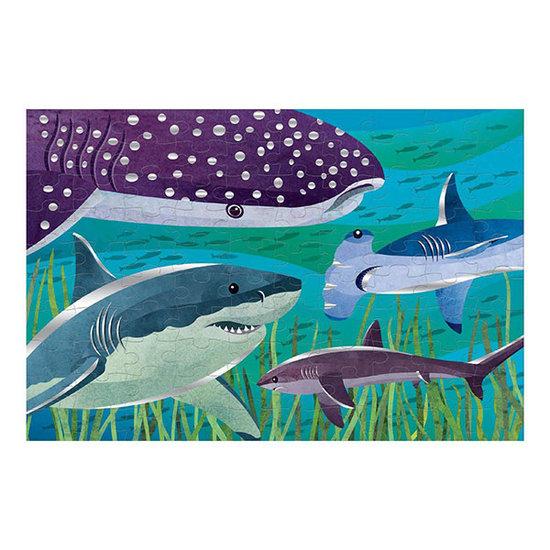 Mudpuppy Mudpuppy folie puzzel haaien 100 stukjes