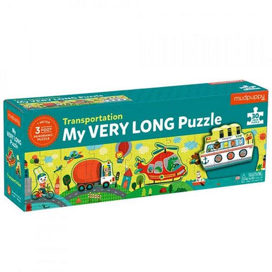 Mudpuppy Mudpuppy My Very Long Puzzel transport 30 stukjes