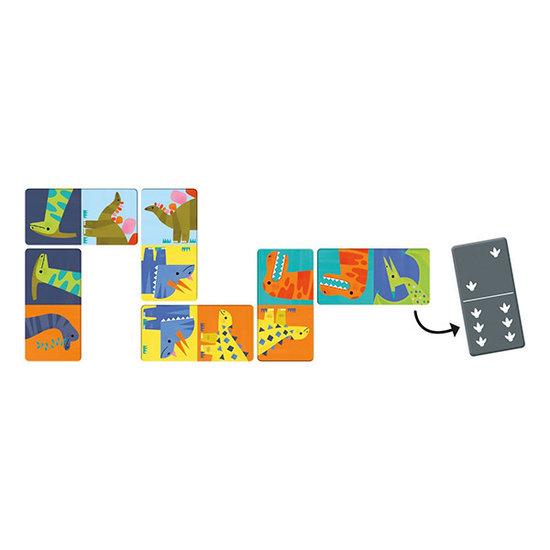 Mudpuppy Mudpuppy domino dinosaurussen +3jr