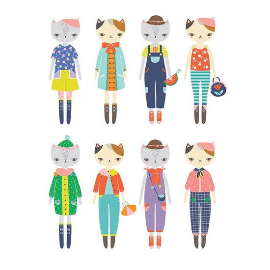 Mudpuppy Mudpuppy magneetboek Dress Up Cat fashion