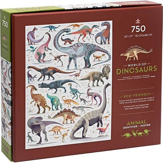 Crocodile Creek Crocodile Creek puzzel World of Dinosaurs 750stuks