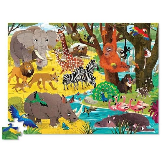 Crocodile Creek Crocodile Creek puzzel Wild Safari 72 stukjes