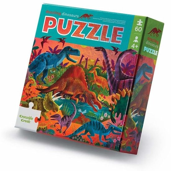 Crocodile Creek Crocodile Creek folie puzzel Dazzling Dinos