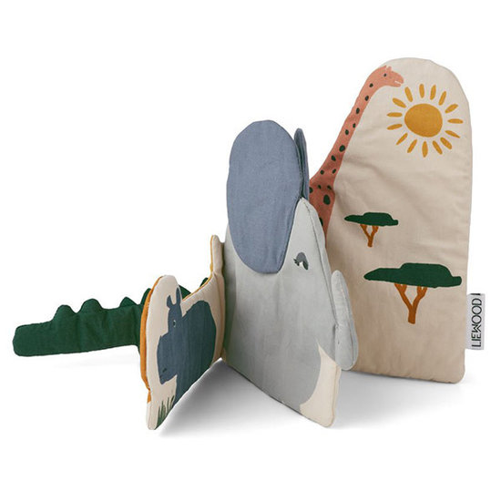 Liewood Liewood Kala stoffen babyboekje Safari mix
