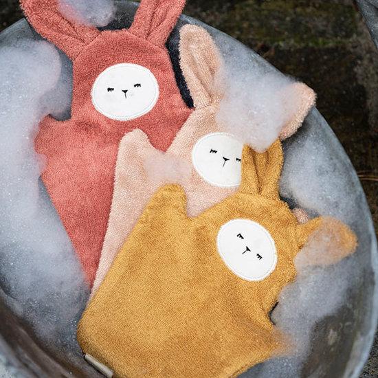 Fabelab Fabelab washcloths Bunny Old Rose mix Mix 3 pack