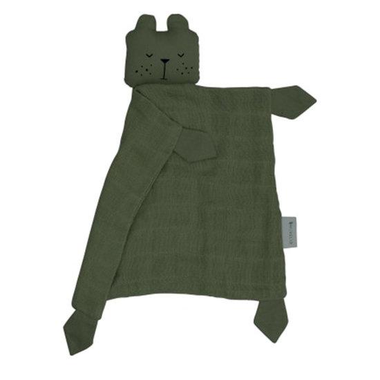 Fabelab Fabelab knuffeldoekje Animal Cuddle Bear Olive