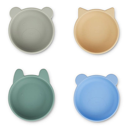 Liewood Liewood silicone kommen Iggy 4 pack - Peppermint mix