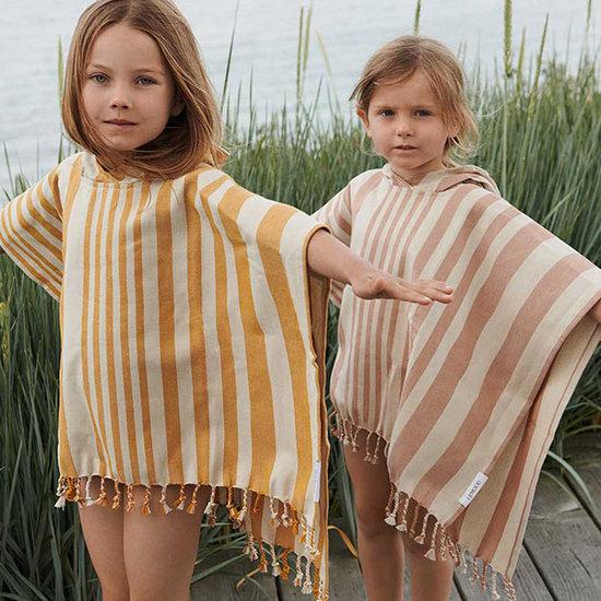 Liewood Liewood Roomie poncho Stripe Peach-Yellow