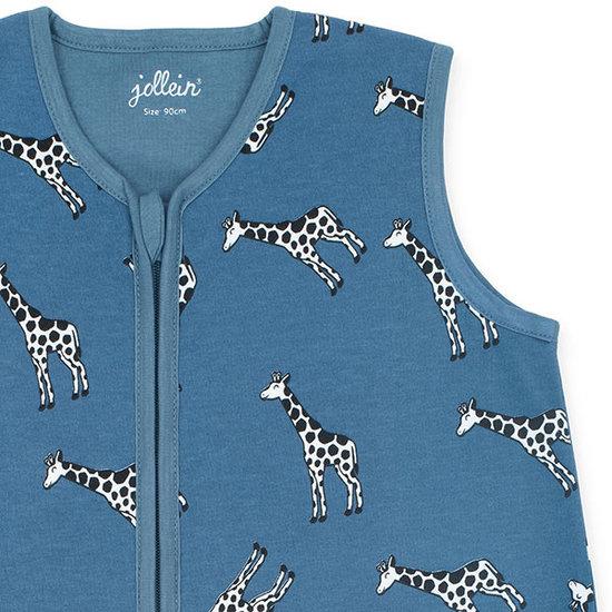 Jollein Jollein zomerslaapzak 70cm Giraffe jeans blue