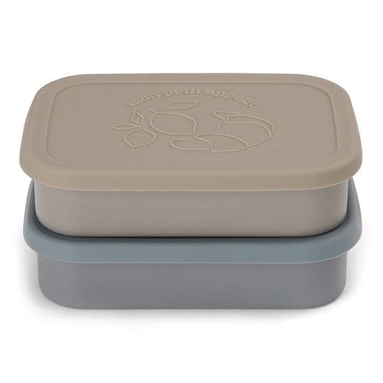 Konges Slojd Konges Slojd food boxes set of 2 - Blue