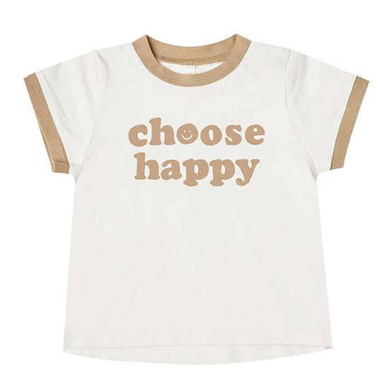 Rylee and Cru Rylee and Cru Ringer t-shirt Choose Happy