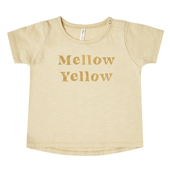 Rylee and Cru Rylee and Cru Basic t-shirt Mellow Yellow