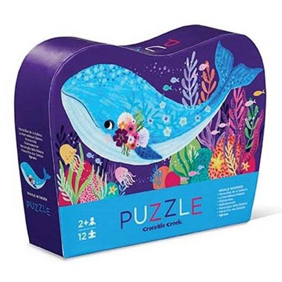 Crocodile Creek Crocodile Creek mini puzzel Whale Wonder 12st