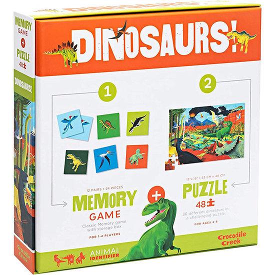 Crocodile Creek Crocodile Creek memory en puzzel Dinosaurussen