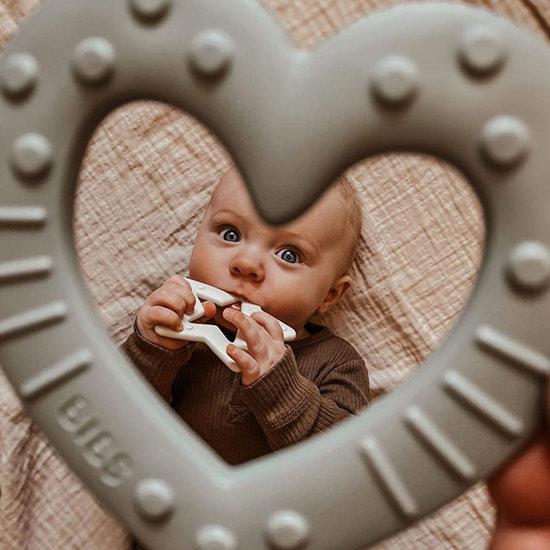 Bibs Bibs Baby Bitie Star bijtring ivory