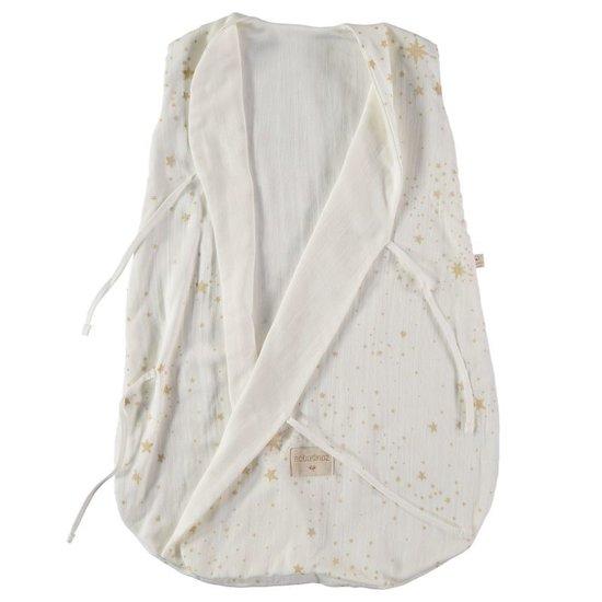 Nobodinoz tipi en accessoires Nobodinoz Dreamy zomerslaapzak Gold Stella White