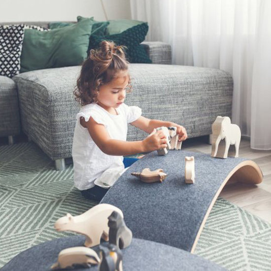 Wobbel Wobbel Pro balansbord met vilt baby muis