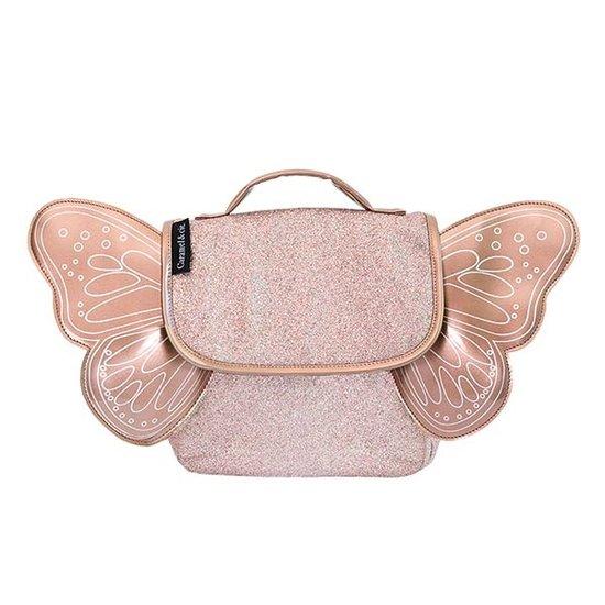 Caramel et Cie Kleuterboekentas vlinder glitter koper - Caramel et Cie