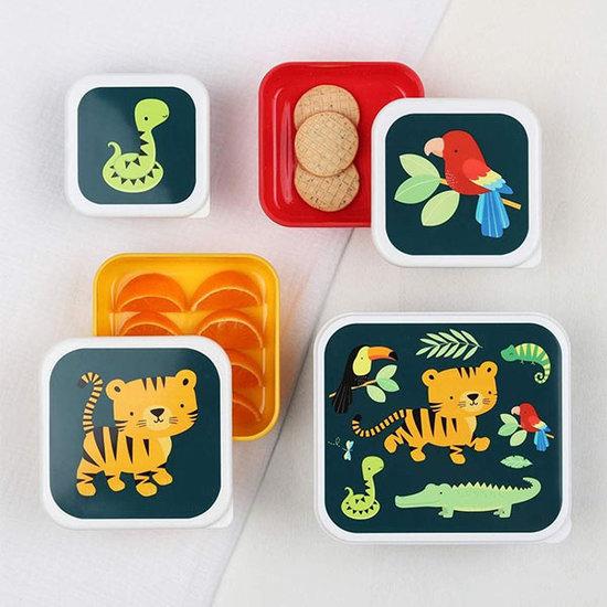 A Little Lovely Company A Little Lovely Company lunch & snack box set Jungle tijger