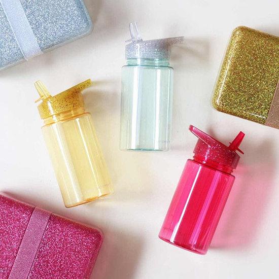 A Little Lovely Company A Little Lovely Company drinkfles Glitter goud