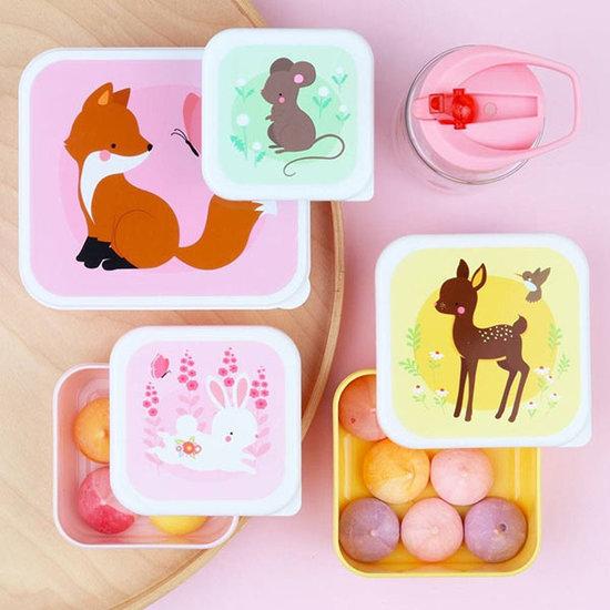 A Little Lovely Company A Little Lovely Company lunch & snack box set Bosvriendjes