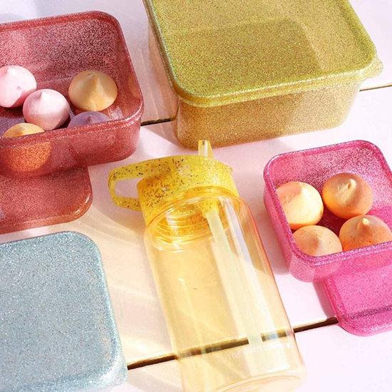 A Little Lovely Company A Little Lovely Company lunch & snack box set Gold Blush