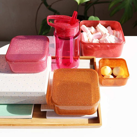 A Little Lovely Company A Little Lovely Company lunch & snack box set Autumn Pink