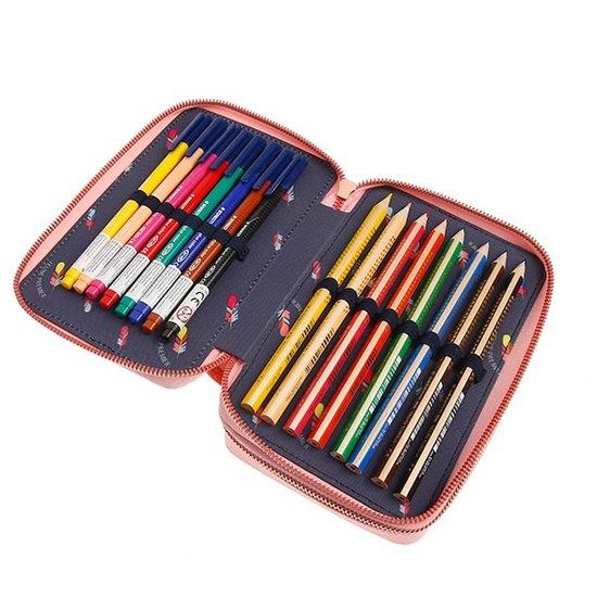 Jeune Premier boekentas Pencil box filled Jeune Premier Tiara Tiger
