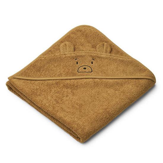 Liewood Badcape Augusta Mr Bear golden caramel 100cm - Liewood