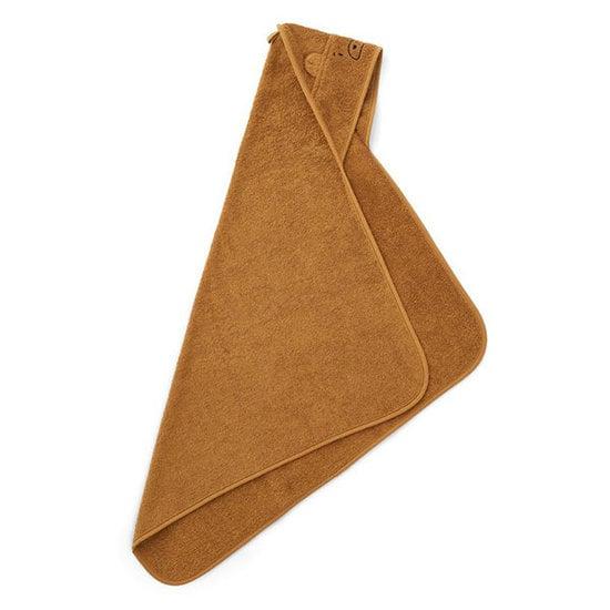 Liewood Badcape Albert Mr Bear golden caramel 70cm - Liewood