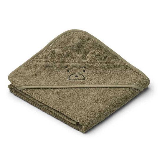 Liewood Badcape Albert Mr Bear khaki 70cm - Liewood
